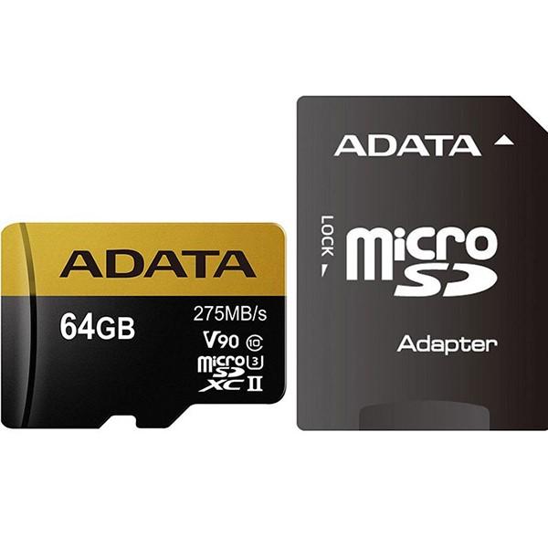 کارت حافظه ای دیتا Premier One Micro UHS-II U3 Class 10 - 64GB
