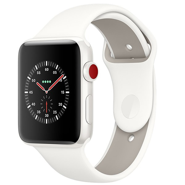 ساعت اپل Edition White 42mm GPS+Cell Ceramic Case with Soft White/Pebble Sport
