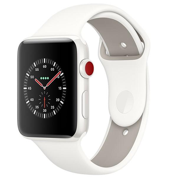 ساعت اپل Edition White 38mm GPS+Cell Ceramic Case with Soft White/Pebble Sport