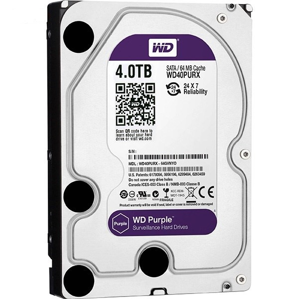 هارد دیسک اینترنال Western Digital Purple Surveillance - 4TB