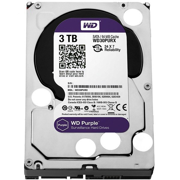 هارد دیسک اینترنال Western Digital Purple Surveillance - 3TB