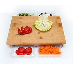 تخته گوشت و سبزیجات کشویی آچین  520