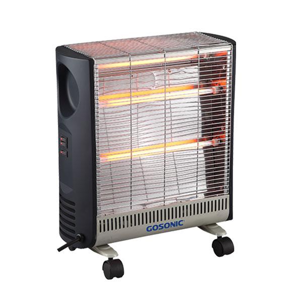 بخاری برقی گاسونیک GEH 308 | توان 2400 وات دارای سیستم خاموش کن خودکار  Gosonic Quartz Heater
