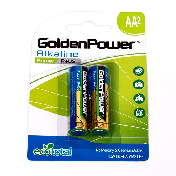 باتری قلمی گلدن پاور  Alkaline Power P Plus US AA