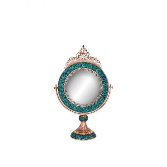 آینه گرد متوسط فیروزه کوب برند آقاجانی
