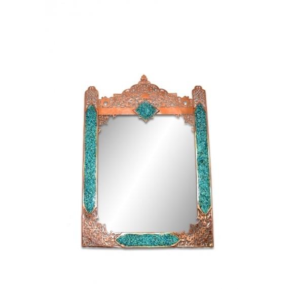 آینه مستطیل متوسط شبکه بری فیروزه کوب برند آقاجانی