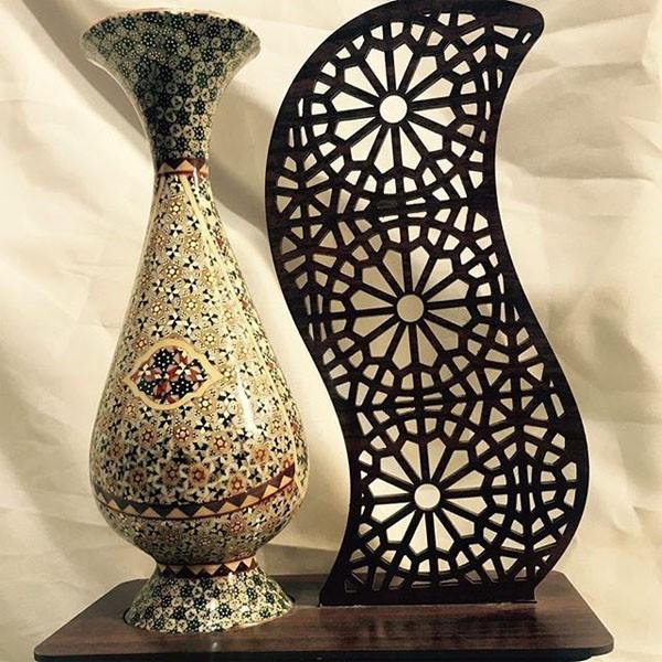 گلدان خاتم کاری برند نقش نگار اصفهان