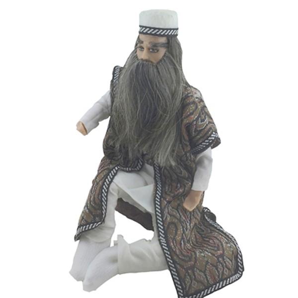 عروسک سنتی طرح درویش از جنس موم برند اصفهان خاتم