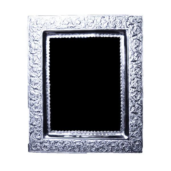 آینه مستطیلی قلمزنی مینیاتور نقره اهتمام SE187010528