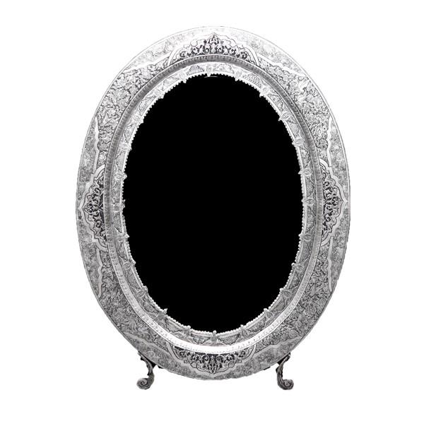 آینه نقره بیضی سیاه قلم اهتمام S211010543A