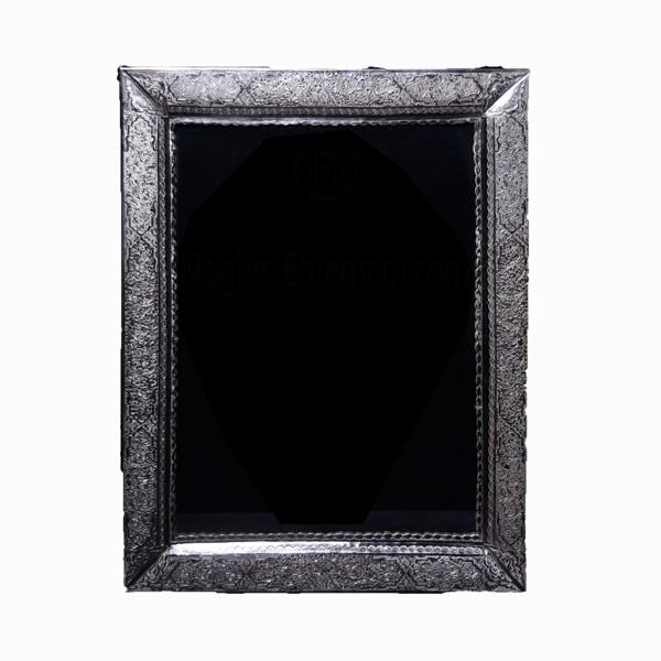 آینه نقره قلمزنی گل و اسلیمی اهتمام 10014