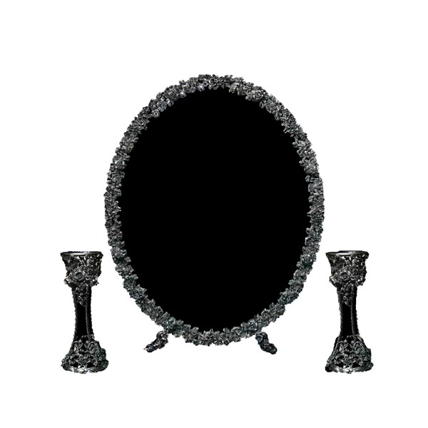 آینه و شمعدان گلرز نقره اهتمام MPS141