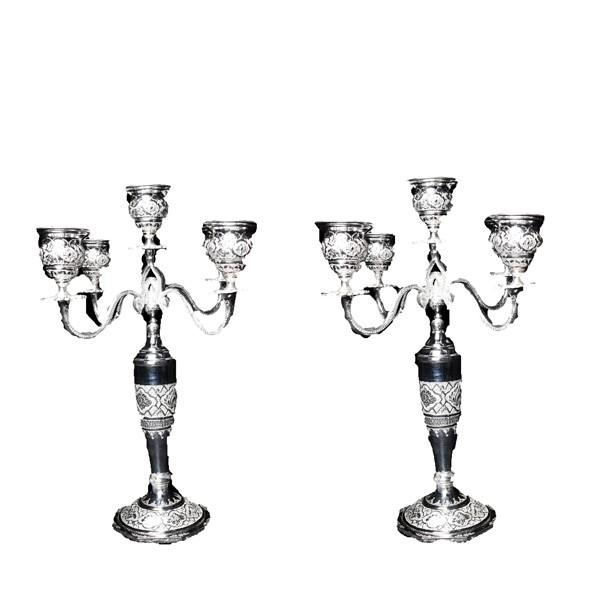 شمعدان پنج سری نقره اهتمام S141510505