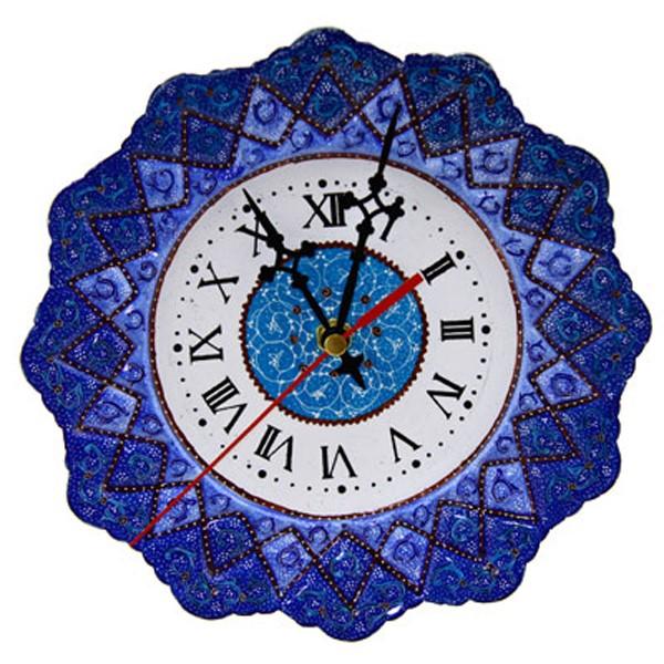 بشقاب میناکاری طرح ساعت برند اصفهان خاتم