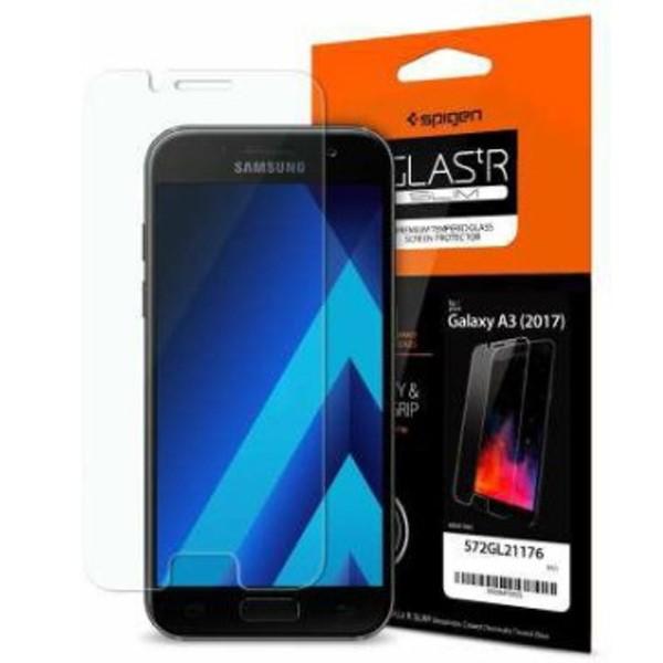 محافظ صفحه نمایش اسپیگن GLAS.TR Slim HD Samsung A3 2017