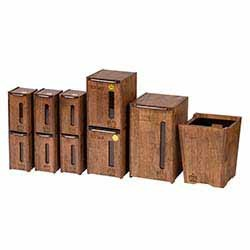 سرویس 10پارچه آشپزخانه چوبی لومن