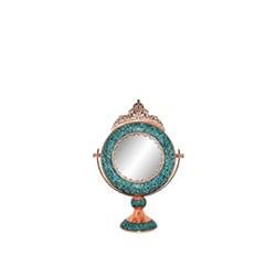 آینه گرد کوچک فیروزه کوب برند آقاجانی