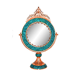 آینه گرد بزرگ فیروزه کوب برند نورمهر