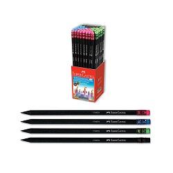 مداد سیاه بلک وود جعبه پلکسی 144 عددی فابر کاستل