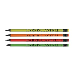 مداد سیاه بلک وود بدنه رنگی با لوگوفابر جعبه پلکسی 144 عددی فابر کاستل