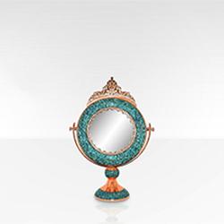 آینه گرد کوچک فیروزه کوب برند نورمهر
