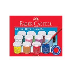 گواش ظروف پلاستیکی 15 میل 12 رنگ فابر کاستل