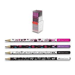 مداد سیاه بدنه طرح اسکلت جعبه پلکسی 144 عددی فابر کاستل