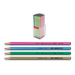 مداد سیاه بدنه متالیک جعبه پلکسی 144 عددی فابر کاستل