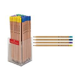 مداد سیاه پاکن دار بدنه رنگ چوب فابر کاستل