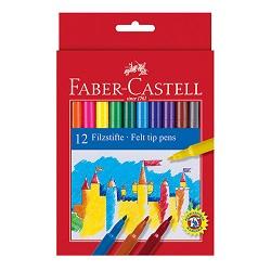 ماژیک کارتی جعبه مقوایی 12 رنگ فابر کاستل
