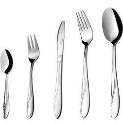 سرویس قاشق و چنگال 30 پارچه غذاخوری سلیا نقره ای ناب استیل  Celia
