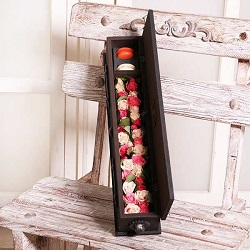 صندوقچه پرچین هرمس با گلهای رز مینیاتور