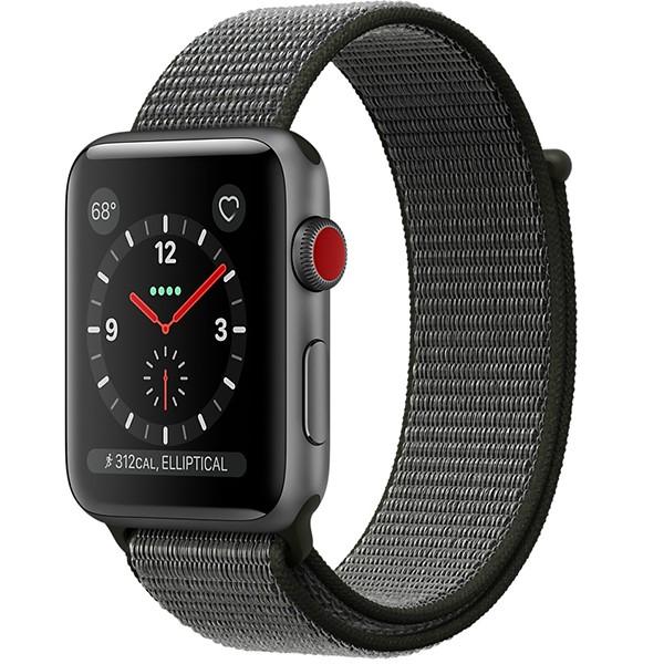 ساعت اپل Space Gray 42mm GPS+Cellular Aluminum Case with Dark Olive Sport Loop