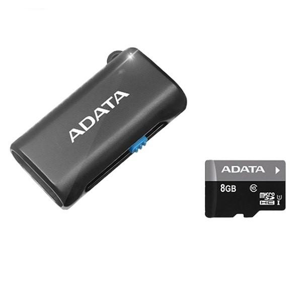 کارت حافظه ای دیتا Premier Micro UHS-I Class 10 - 8GB+Reader