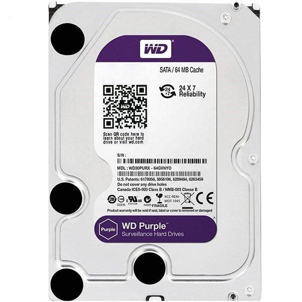 هارد دیسک اینترنال Western Digital Purple Surveillance - 6TB