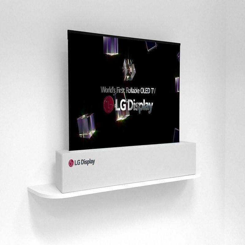 ال جی از تلویزیون اولد رول شونده ۶۵ اینچی با رزولوشن 4K رونمایی کرد