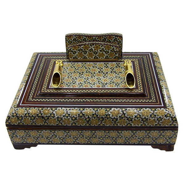 جا قلمی جعبه دار برند اصفهان خاتم