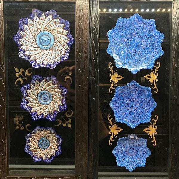 بشقاب میناکاری برند نقش نگار اصفهان