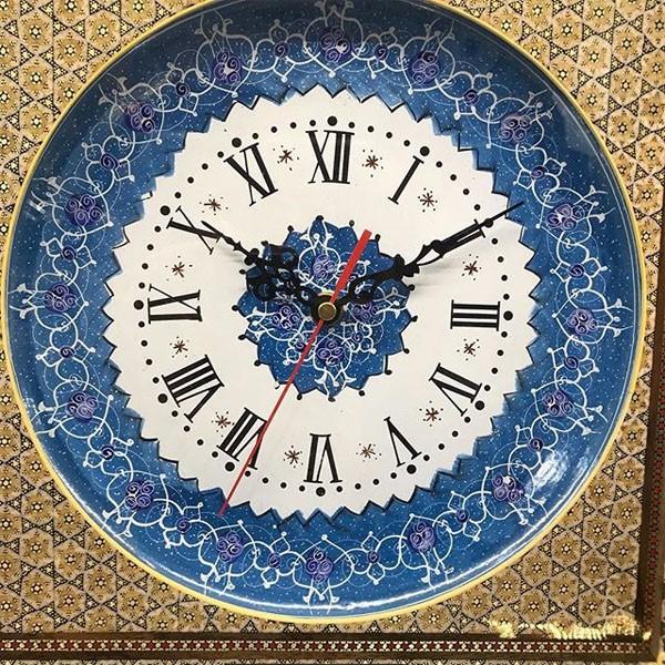 ساعت مينا كاری با قاب خاتم برند نقش نگار اصفهان
