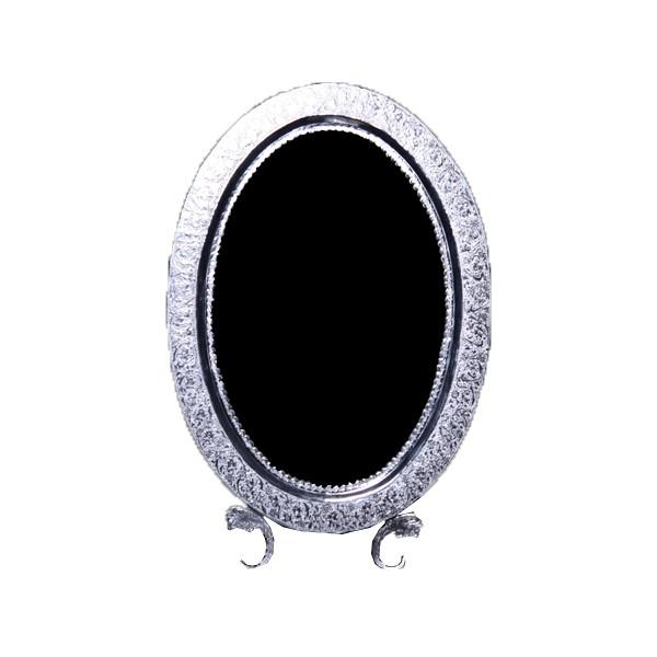 آینه بیضی قلم زنی نقره اهتمام SE187010529