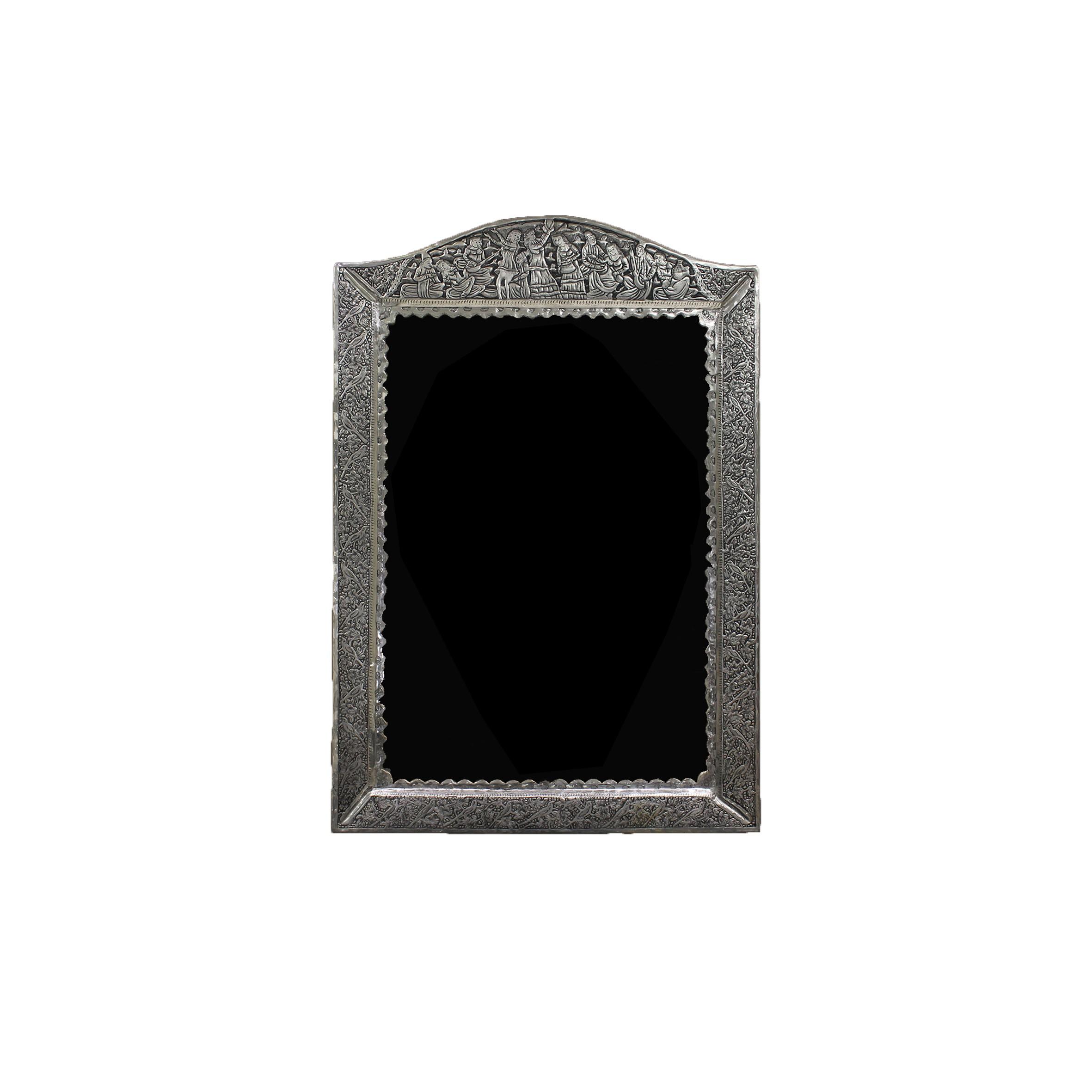 آینه تاج هلالی قلمزنی نقره اهتمام 70096
