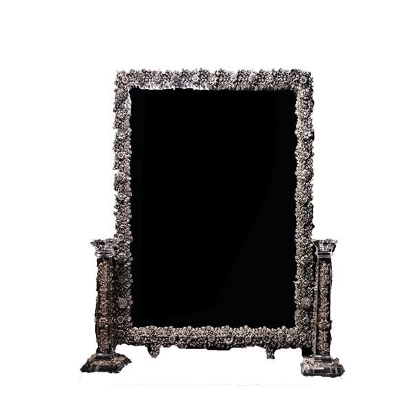 آینه شمعدان گلرز کریستال نقره اهتمام 11044