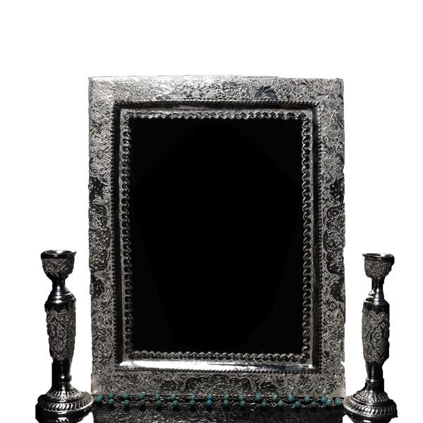 آینه شمعدان نقره اهتمام S141010263