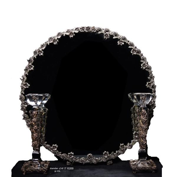 آینه شمعدان نقره اهتمام S161110069