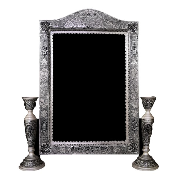 آینه شمعدان نقره اهتمام S231010372