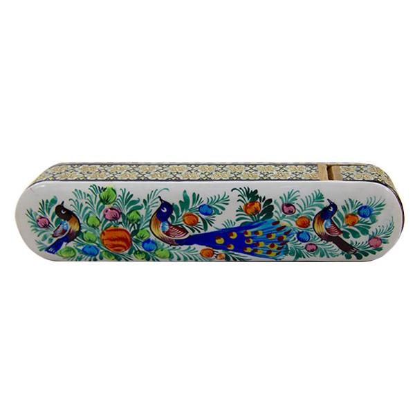 قلمدان گل و مرغ برند اصفهان خاتم