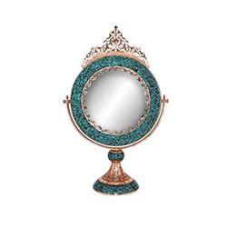 آینه گرد بزرگ فیروزه کوب برند آقاجانی