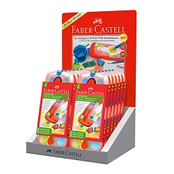آبرنگ پازلی بسته 12 تایی دارای 12 رنگ فابر کاستل