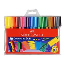 ماژیک رنگ آمیزی در چسبان بسته پلاستیکی 20 رنگ فابر کاستل