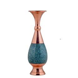 گلدان صراحی 25 فیروزه کوب برند آقاجانی F011
